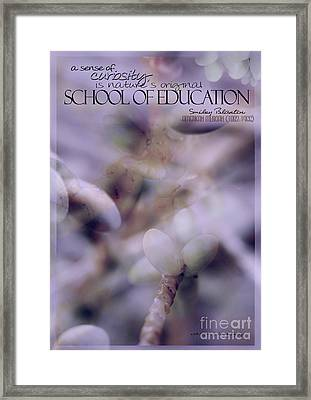 School Of Curiosity 07 Framed Print