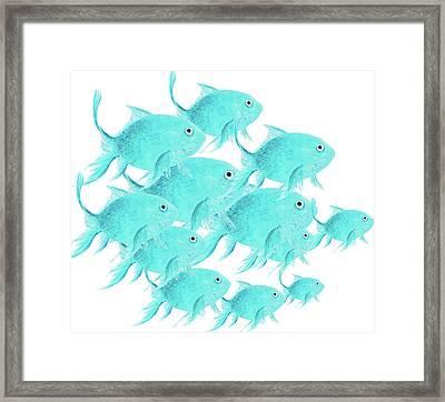 School Of Fish Framed Print by Jan Matson