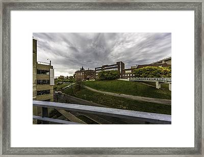School On The Hill Framed Print