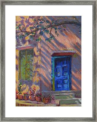 School Room Door Varanasi India Framed Print by Art Nomad Sandra  Hansen
