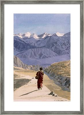 School Run Framed Print by Andrew Crane