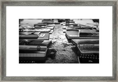 School Supplies Prize Table Framed Print