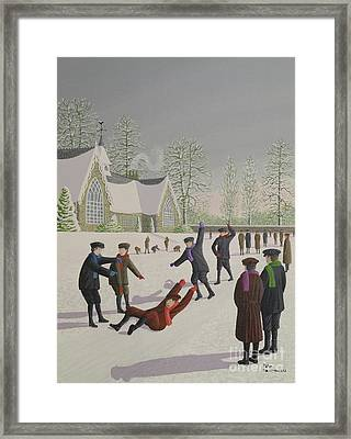 School Yard Sliding Framed Print by Peter Szumowski