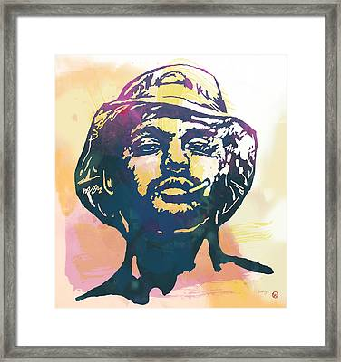 Schoolboy Q Pop Stylised Art Poster Framed Print