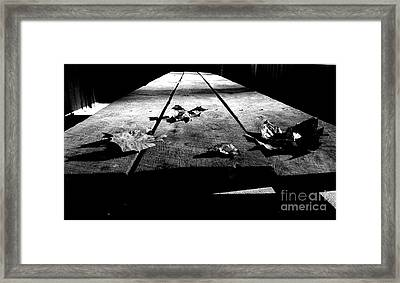 Schooled In Thought - Black And White Framed Print