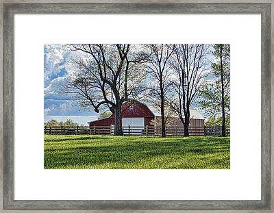 Schooler Road Barn Framed Print