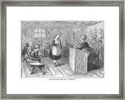 Schoolhouse, 1877 Framed Print