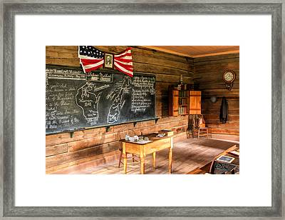 Schoolhouse Classroom At Old World Wisconsin Framed Print