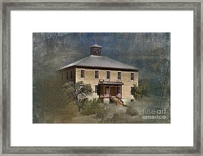 Schoolhouse Days Framed Print by Sandra Bronstein