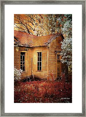 Schoolhouse In The Spring Framed Print