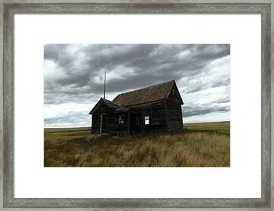 Schoolhouse On The Prairie Framed Print