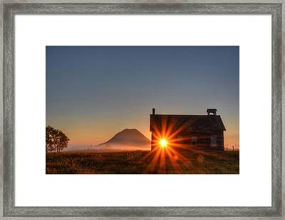 Schoolhouse Sunburst Framed Print