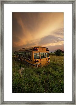 Framed Print featuring the photograph School's Out  by Aaron J Groen