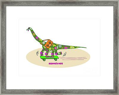 Schools Out For Dinosaurs Framed Print