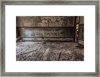 School's Out Forever Framed Print