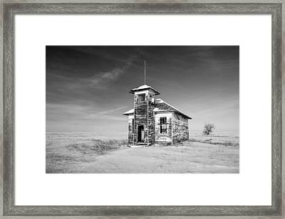 School's Out In Black And White Framed Print by Todd Klassy