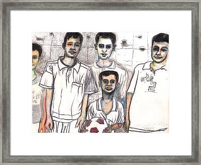 Schoolyard Chums Framed Print by Al Goldfarb
