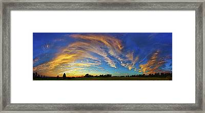 Schoolyard Sunset 1 Framed Print