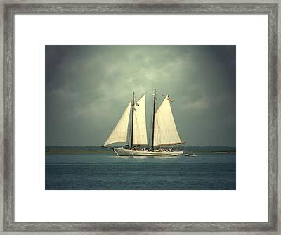 Schooner A. J. Meerwald 4 Framed Print by Joyce StJames