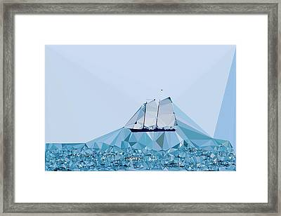Schooner, Abstracted Framed Print by Sandy Taylor