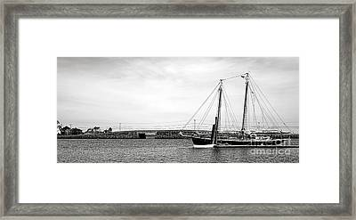 Schooner At The Cribstone Bridge Framed Print