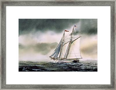 Schooner Heritage Framed Print by James Williamson