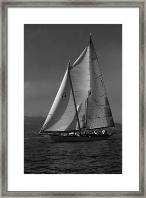 Schooner In Bay 2 Framed Print