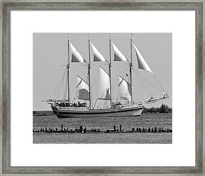 Schooner On Lake Michigan No. 1-3 Framed Print by Sandy Taylor