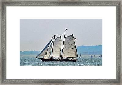 Schooner On New York Harbor No. 3 Framed Print