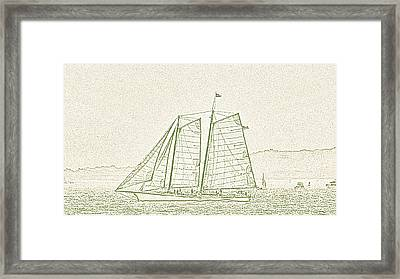 Schooner On New York Harbor No. 3-2 Framed Print by Sandy Taylor