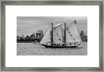 Schooner On New York Harbor No. 1-1 Framed Print by Sandy Taylor