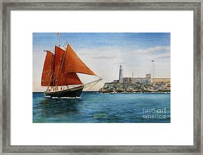 Schooner Roseway Framed Print