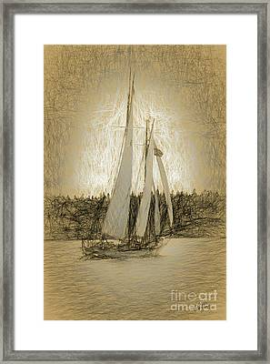 Schooner Sailing Framed Print by Cheryl Rose