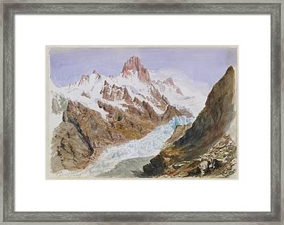 Schreckhorn  Eismeer Framed Print