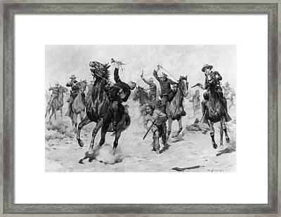 Schreyvogel: Attack, 1905 Framed Print by Granger