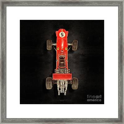 Schuco Ferrari Formel 2 Top On Black Framed Print by YoPedro