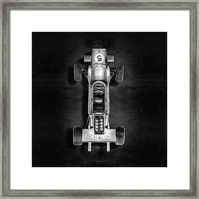 Framed Print featuring the photograph Schuco Matra Ford Top Bw by YoPedro