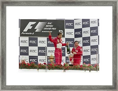 Michael Schumacher Podium Framed Print by Gary Doak