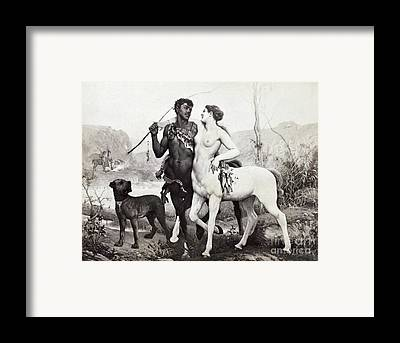 Interracial Nude Framed Prints