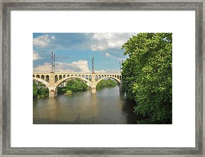 Schuylkill River At The Manayunk Bridge - Philadelphia Framed Print by Bill Cannon