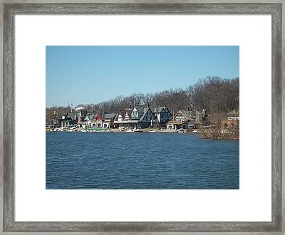 Framed Print featuring the photograph Schuylkill River - Boathouse Row In Philadelphia by Bill Cannon