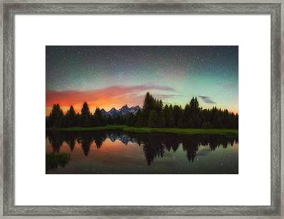 Schwabacher Heavens Framed Print by Darren  White