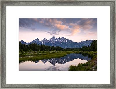Framed Print featuring the photograph Schwabacher Landing In 60 Seconds by Dan Mihai