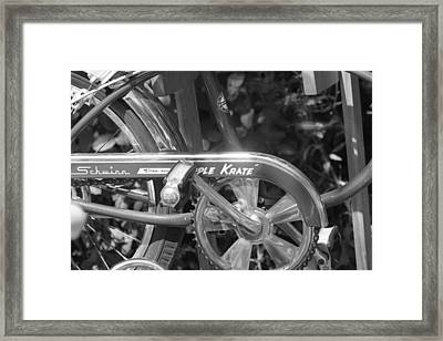 Schwinn Apple Krate Framed Print by Lauri Novak