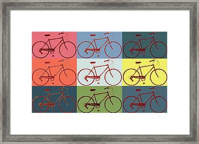 Schwinn Bicycle Pop Art Framed Print by Dan Sproul