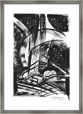 Sci Fi City Framed Print