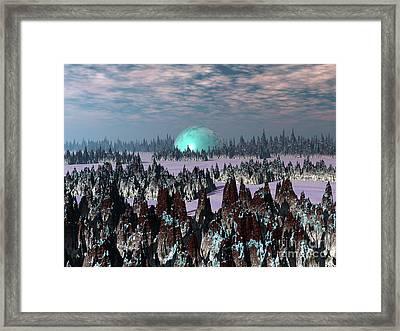 Sci Fi Landscape Framed Print