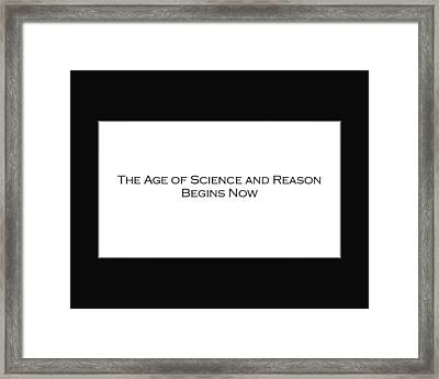 Science And Reason Framed Print