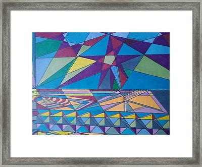 Science Fair Toys Bright Framed Print by Modern Metro Patterns and Textiles