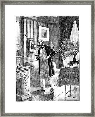 Science Fiction Story, 19th Century Framed Print by Spl